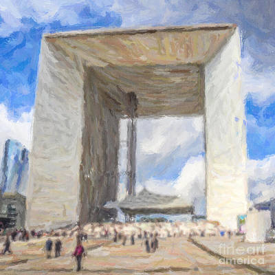 Digital Art - Grande Arche by Liz Leyden