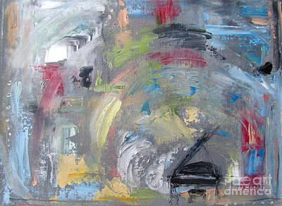 Ann Holder Painting - Grande Hoopla by Ann Holder