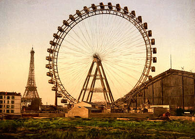 19th Century Painting - Grande Roue De Paris by John K Woodruff