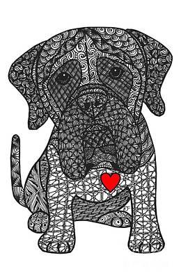 Drawing - Grandeur - Mastiff by Dianne Ferrer
