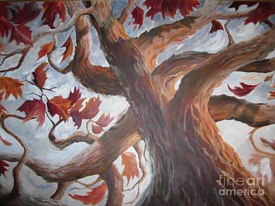 Wall Art - Painting - Grandeur Of Tree by Paula Marsh