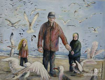 Painting - Grandfather Brother And Sister by Michael Anthony Edwards