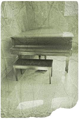 Shades Of Gray Photograph - Grandfather's Piano by Joan Reese