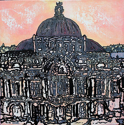Prague Painting - Grandiose  by Oscar Penalber