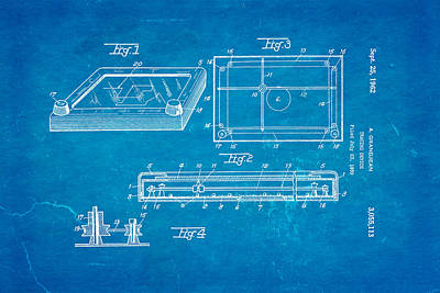 Grandjean Etch A Sketch Patent Art 1962 Blueprint Art Print by Ian Monk