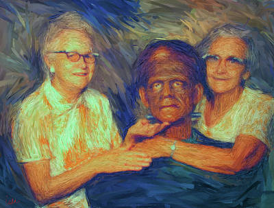 Grandma And Aunt With Frank Art Print