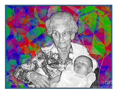 Photograph - Grandma And Rose by Joan  Minchak
