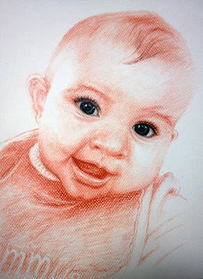 Commission Work Drawing - Grandma's Baby Girl  by Sun Sohovich