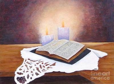 Painting - Grandma's Bible by Jerry Walker