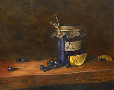 Mother Board Painting - Grandma's Blueberry Jam by Jeff Brimley