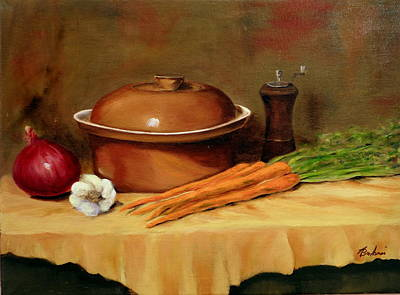 Crocks Painting - Grandma's Crock by Anne Barberi