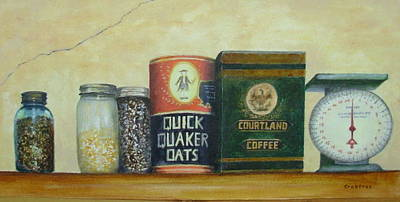 Painting - Grandma's Cupboard by Elizabeth Crabtree