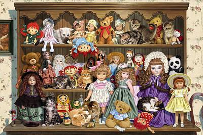 Bookcase Photograph - Grandmas Dresser by Steve Read