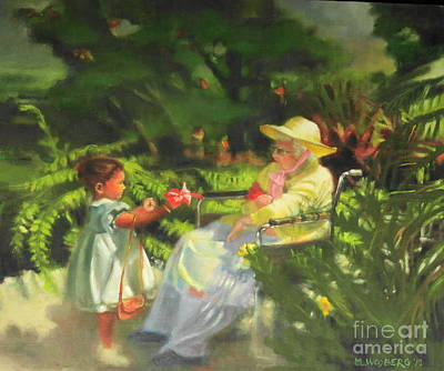 Handicapped Painting - Grandma's Garden by Marilyn Weisberg