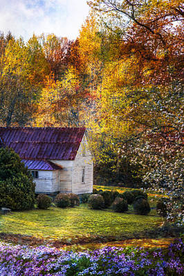 Country Cottage Photograph - Grandma's House by Debra and Dave Vanderlaan