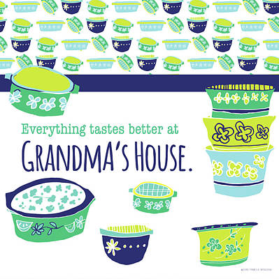 Family Love Painting - Grandma's House by Pamela J. Wingard