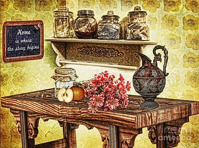 Grandma's Kitchen Art Print by Mo T