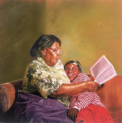 African-american Painting - Grandmas Love by Colin Bootman