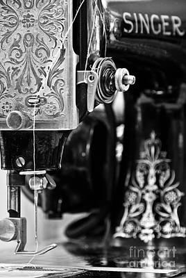 Machine Quilting Photograph - Grandma's Machine by Pamela Taylor