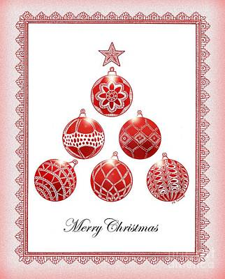 Drawing - Grandma's Ornaments by E B Schmidt