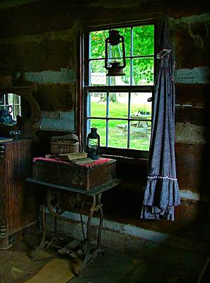 Log Cabin Interiors Photograph - Grandma's Things by Julie Dant