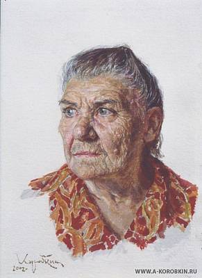 Painting - Grandmother by Korobkin Anatoly