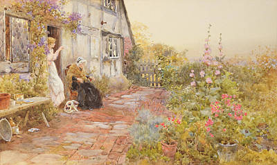 Wisteria Painting - Grandmother by Thomas James Lloyd