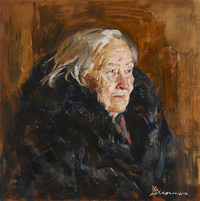 Grandmothers Painting - Grandmother by Victoria Kharchenko