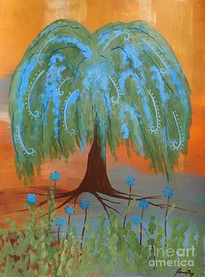 Painting - Grandmother Willow Tree by Jean Fry