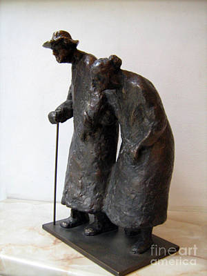 Nikola Litchkov Sculpture - Grandpa And Grandma by Nikola Litchkov