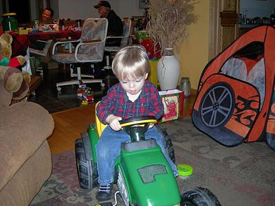 Photograph - Grandpa Has A John Deere Too by Randy Rosenberger