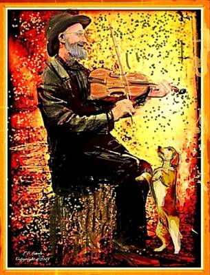 The Music Lover. Print by Larry Lamb