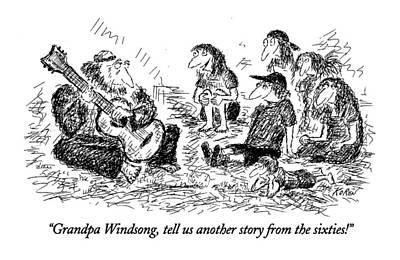Grandpa Windsong Art Print