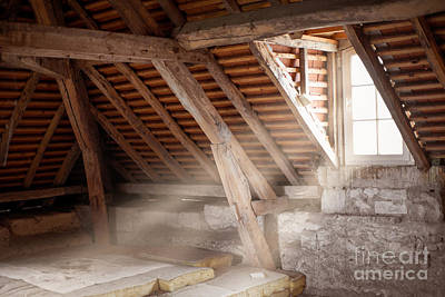 Abandoned House Wall Art - Photograph - Grandpa's Attic by Delphimages Photo Creations
