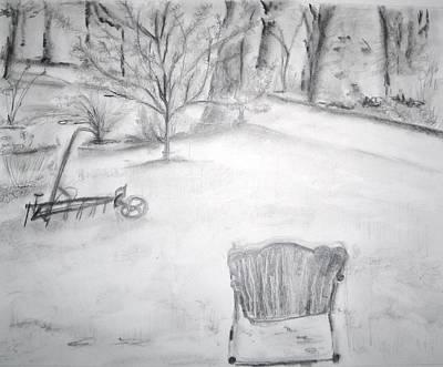 Grandpa's Backyard II Art Print by Helena Bebirian