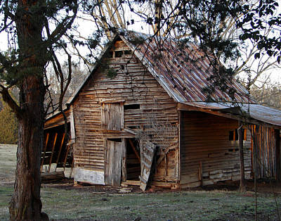 Photograph - Grandpa's Barn Georgia by Sally Ross
