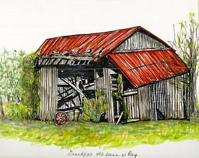 Grandpa's Barn Art Print by Karen Wilson