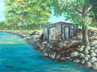Painting - Grandpa's Boathouse by Susan DeLain