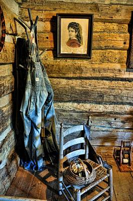 Log Cabin Interiors Photograph - Grandpa's Closet by Jan Amiss Photography
