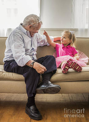 Bonding Photograph - Grandpa's Little Princess by Diane Diederich