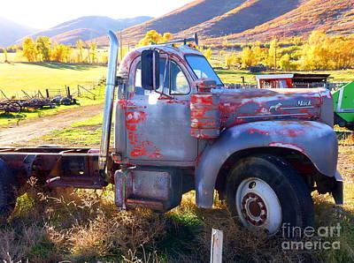 Art Print featuring the photograph Grandpa's Mack Truck by Jackie Carpenter