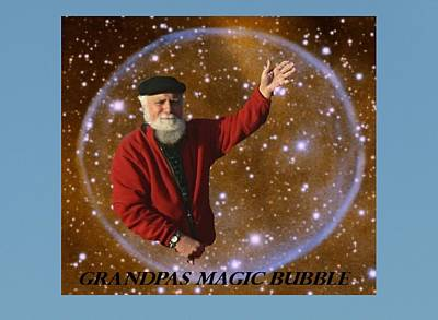 Photograph - Grandpa's Magic Bubble  by Gracia  Molloy