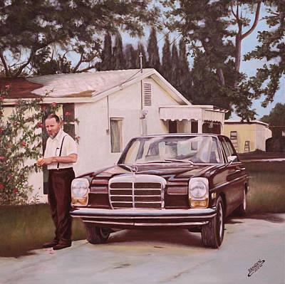 Painting - Grandpa's Mercedes by Branden Hochstetler