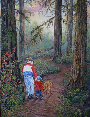 Grandpa's Pathway  Art Print by Gracia  Molloy