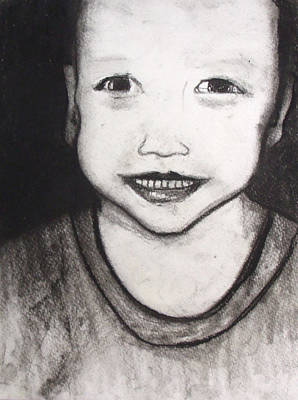 Drawing - Grandson by Angela Stout