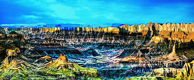 The Plateaus Digital Art - Grandview Viewpoint Grand Canyon by Bob and Nadine Johnston