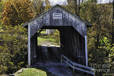 Photograph - Grange City Covered Bridge by Mary Carol Story