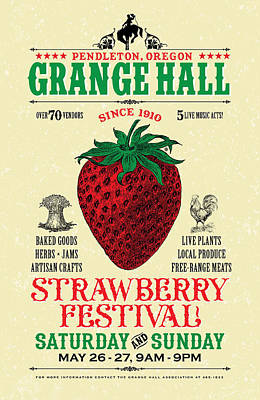 Digital Art - Grange Hall Festival by Gary Grayson