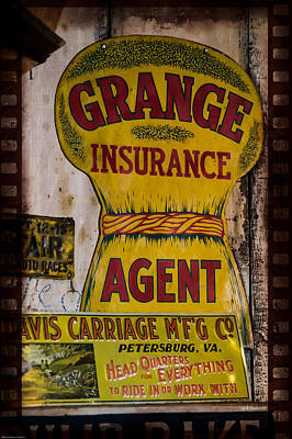 Photograph - Grange Insurance Agent by Mick Anderson