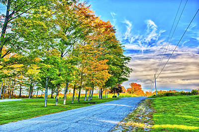 Maine Roads Digital Art - Granger Color by Gregory W Leary